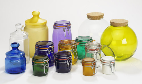Suppliers Of Coloured Glass Storage Jars And Clear Glass Storage Jars